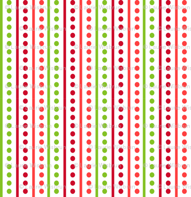Brr Stripes Green Red
