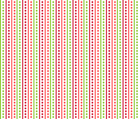 Brr Stripes Green Red fabric by lauriewisbrun on Spoonflower - custom fabric