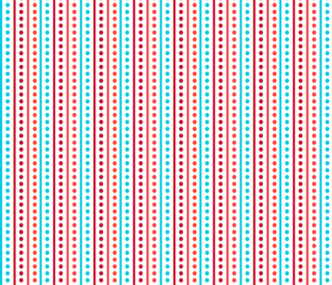 Brr Stripes Blue Red fabric by lauriewisbrun on Spoonflower - custom fabric