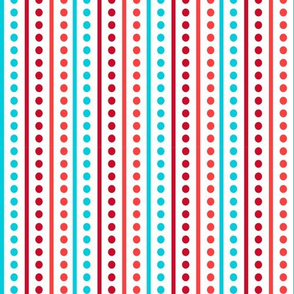 Brr Stripes Blue Red