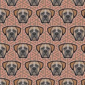 Boxer Dog Faces on Geo - Large