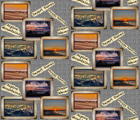 Geology Scrapbook-Places I've Been fabric by zsmama on Spoonflower - custom fabric