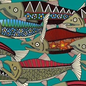 Alaskan salmon teal