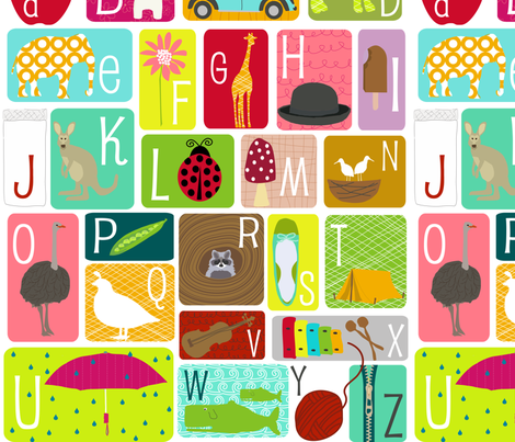 Alphabet Chart - Fat Quarter fabric by lauriewisbrun on Spoonflower - custom fabric