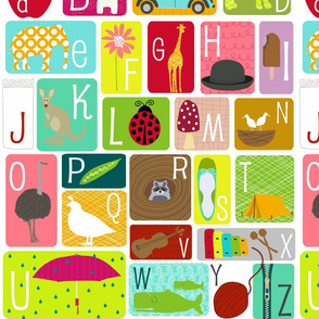 Alphabet Chart - Fat Quarter