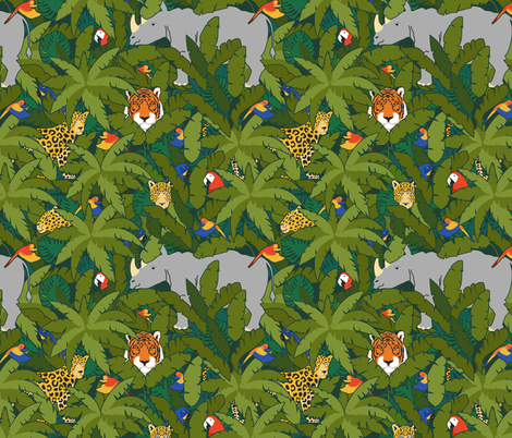 Vanishing Faces in the Forest fabric by latheandquill on Spoonflower - custom fabric