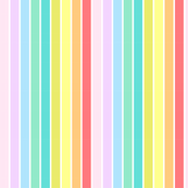 Colorful Pastel Stripes Large