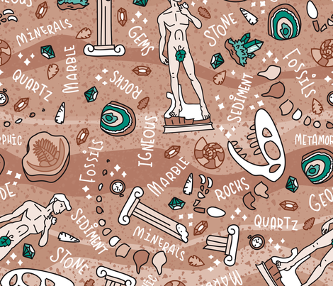 Storybook Geology fabric by hollybender on Spoonflower - custom fabric