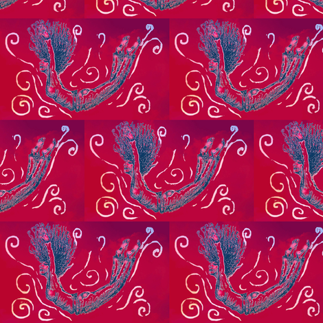 "Fall ""The art of flying""-Clouds-Reds fabric by cloudsong_art on Spoonflower - custom fabric"