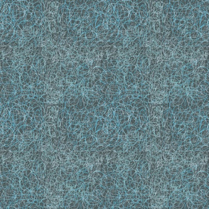 Turquoise Kritzel, by Susanne Mason
