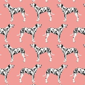 dalmatian dog (smaller scale) fabric dalmation pink coral fabric for dalmatian owners cute dog fabric