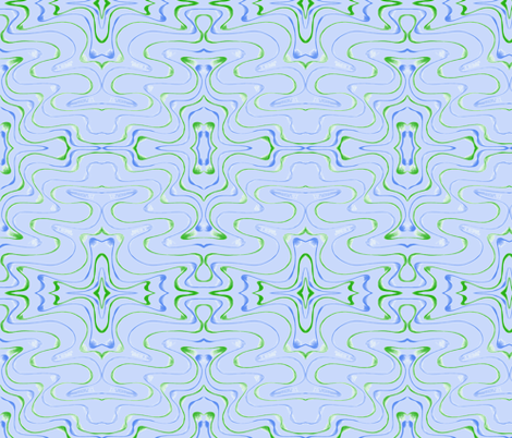 Billabong Ebb and Flow Contours on Limpid Blue - Extra Large Scale fabric by rhondadesigns on Spoonflower - custom fabric