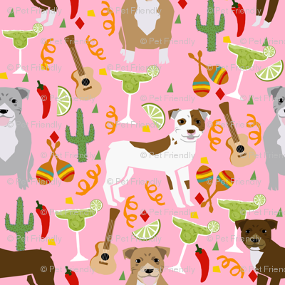 pitbull fiesta dog breed margaritas mexican fabric