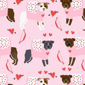 pitbull valentine's day dog breed love dog fabric