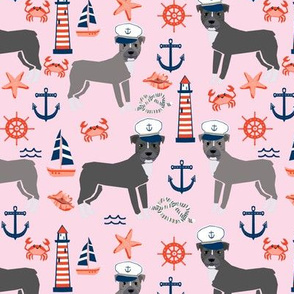 pitbull nautical dog breed sailing dog fabric