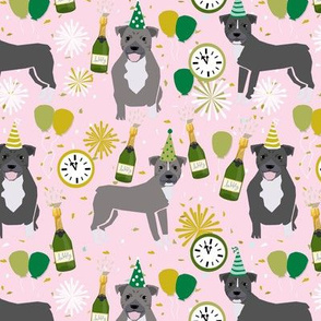 pitbull new year's eve dog breed times square dog fabric