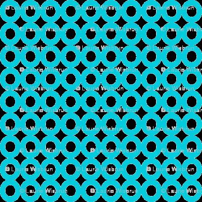 Modern Whimsy Circles Blue