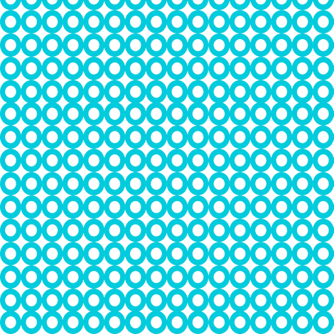Modern Whimsy Circles Blue fabric by lauriewisbrun on Spoonflower - custom fabric