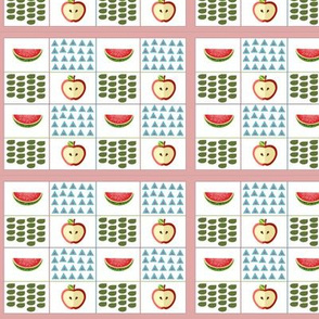 Watermelon and Apple