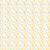 Super Small Watercolor Meadow Flowers, Yellow Flowers, Watercolor Floral Pattern
