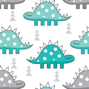 teal stegosaurus dino