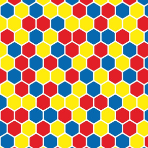 Hexagon Pattern in Solid Bright Colors
