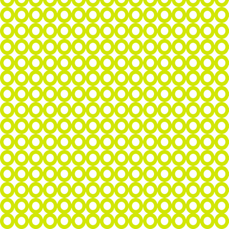Modern Whimsy Circles Citron fabric by lauriewisbrun on Spoonflower - custom fabric