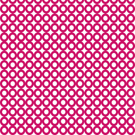 Modern Whimsy Circles Dark Pink fabric by lauriewisbrun on Spoonflower - custom fabric
