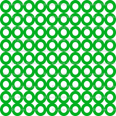 Modern Whimsy Circles Green