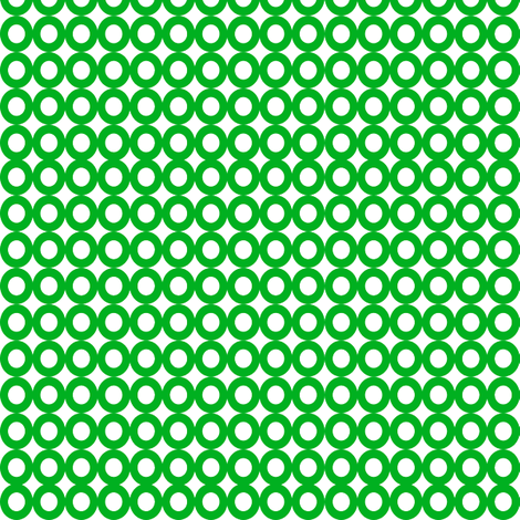 Modern Whimsy Circles Green fabric by lauriewisbrun on Spoonflower - custom fabric