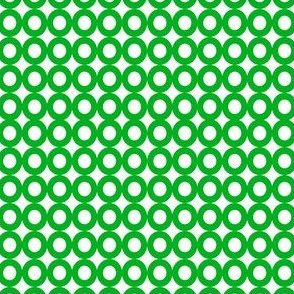 Modern Whimsy Circles Green