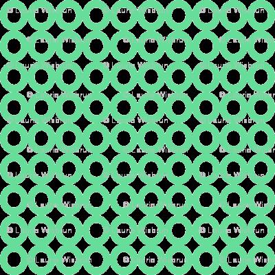 Modern Whimsy Circles Mint