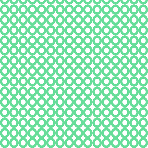 Modern Whimsy Circles Mint fabric by lauriewisbrun on Spoonflower - custom fabric