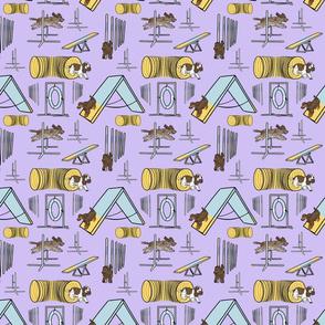 Simple English Cocker Spaniel agility dogs C - small purple