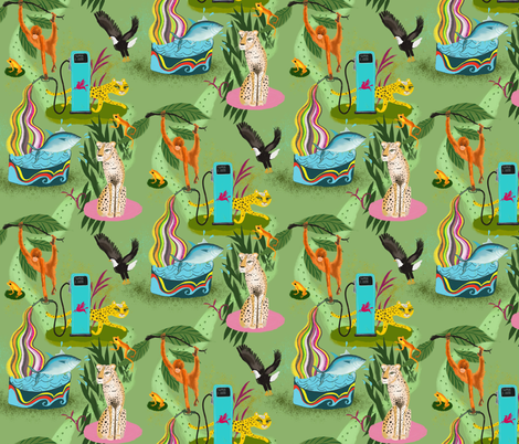 Endangered animals fabric by miraparadies on Spoonflower - custom fabric