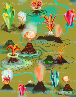 Volcanos and crystals
