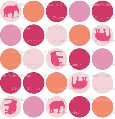 Urban Circus Elephants Dots Pink