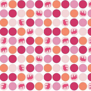 Urban Circus Elephants Dots Pink