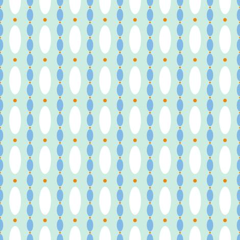 Mae Dot jade 2 fabric by lilyoake on Spoonflower - custom fabric