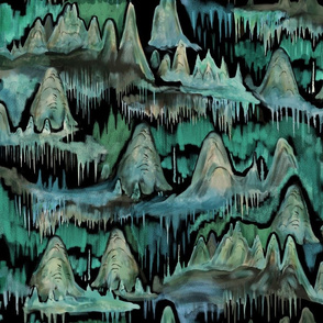 Cave Exploration Blue Green