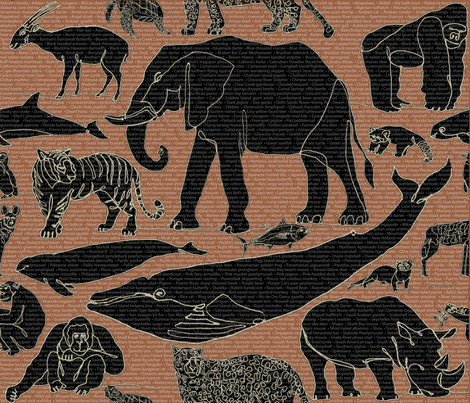 The Catalog of Endangered Species fabric by agregorydesigns on Spoonflower - custom fabric