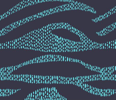 Broken Waves - Blue fabric by rsawyer_designs on Spoonflower - custom fabric