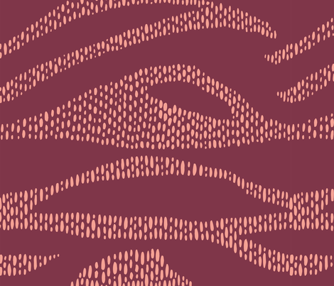 Broken Waves - Red fabric by rsawyer_designs on Spoonflower - custom fabric