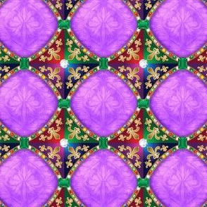 Jeweled Medieval Diamonds in Purple