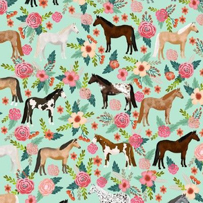 Horse Fabric Wallpaper Gift Wrap Spoonflower