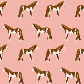 horse pinto coat horses fabric peach