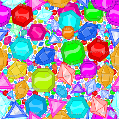 Lots of Multicolored Jewels