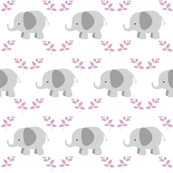 Elephants - Gray lavender leaves
