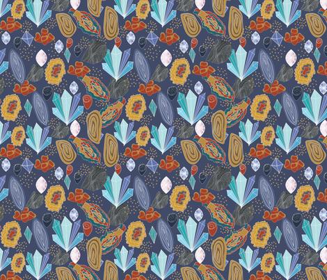 geology -earth minerals fabric by sarajawdattdesigns on Spoonflower - custom fabric