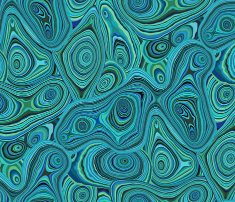 Dyed Agate-Ocean Blues fabric by groovity on Spoonflower - custom fabric